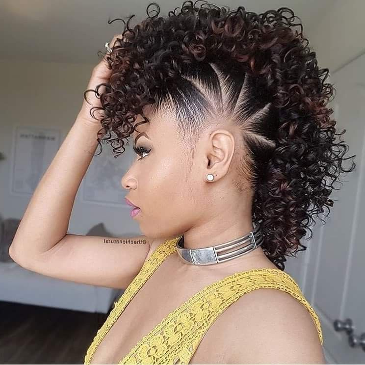 Curly Faux Hawk | Mohawk Hairstyles, Natural Hair Styles regarding Faux Mohawk Hairstyles With Natural Tresses