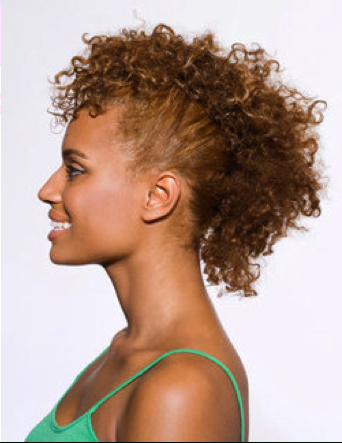 Curly Hair Style – Faux Hawk | Curly Hair Products Blog And throughout Curly Faux Mohawk Hairstyles