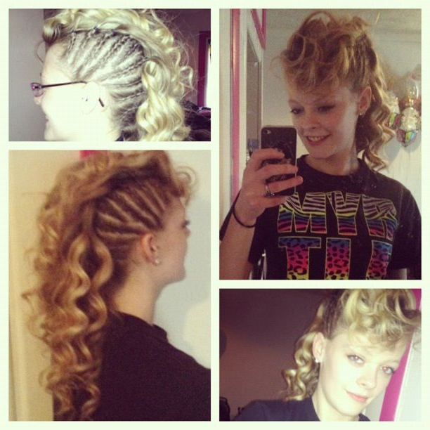 Curly Mohawk For Long Hair | Highlights Hair throughout Long Curled Mohawk Haircuts