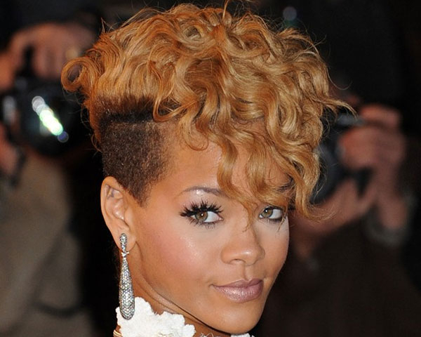 Curly Mohawk Hairstyles | Hairstylo with regard to Blonde Curly Mohawk Hairstyles For Women