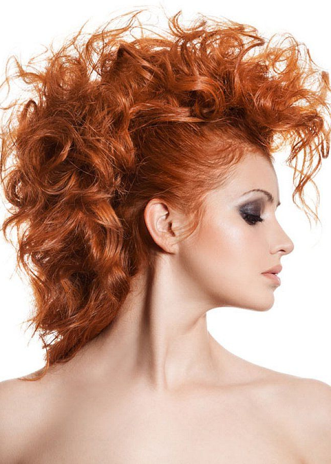 Curly Mohawk Hairstyles Long Hair - Google Search | Huy?n in Long Curled Mohawk Haircuts