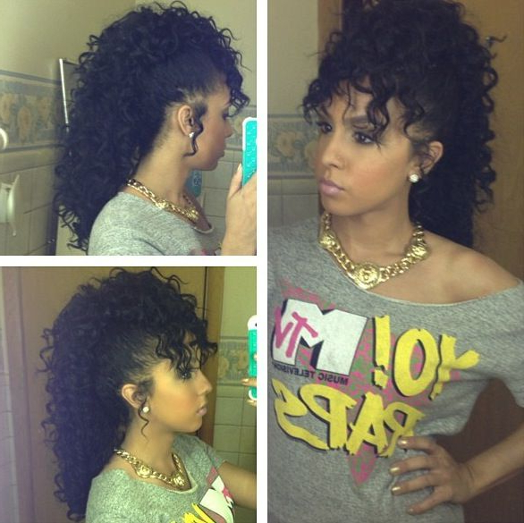 Curly Mohawk | Natural Hair Styles, Curly Hair Styles, Hair throughout Curly Weave Mohawk Haircuts