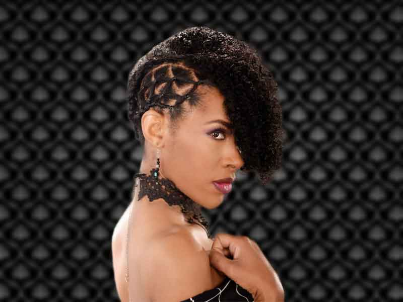 Curly Updo Hairstyle For Natural Hair From Deirdre Clay regarding Fierce Mohawk Hairstyles With Curly Hair