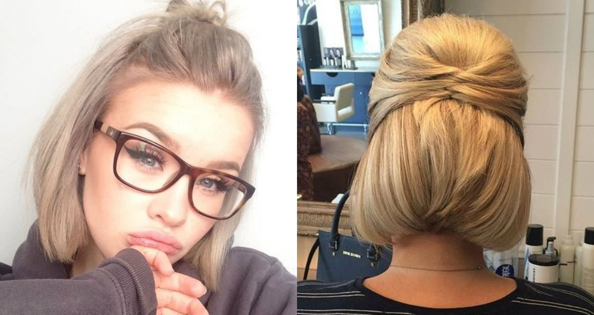 Cute Short Hair Updo Hairstyles You Can Style Today throughout Cute Bob Hairstyles With Bun