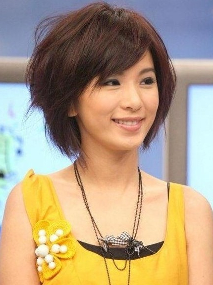 Cute Short Haircuts: Asian Hairstyles – Popular Haircuts Within Wispy Bangs Asian Hairstyles (View 21 of 25)