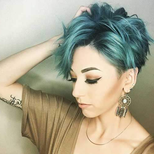 Dare To Get A Pixie Cut! We've Got 50 Suggestions & Ideas Pertaining To Pastel Pixie Haircuts With Curly Bangs (View 17 of 25)