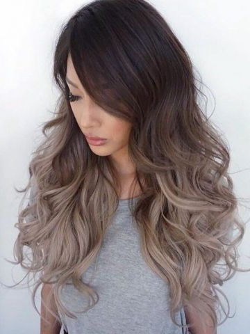 Dark Brown Ombre Ash Blonde Long Wavy Lace Front Human Hair for Black To Light Brown Ombre Waves Hairstyles