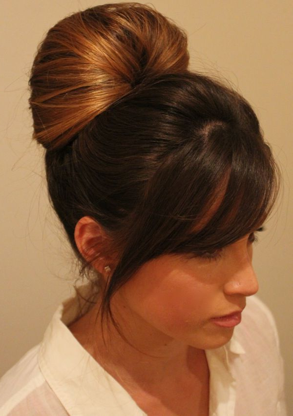 Easy Hair Updo | Hair Beauty: Cat , Hair Inspiration, Hair With High Bun With Twisted Hairstyles Wrap And Graduated Side Bang (View 13 of 25)