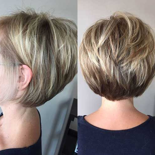 Elegant Short Highlighted Hair Color Ideas Throughout Highlighted Short Bob Haircuts (View 5 of 25)