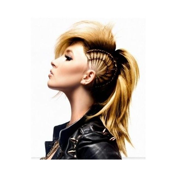 End Of 2011 Punk Girl Hairstyle ? Liked On Polyvore Regarding Punk Mohawk Updo Hairstyles (View 10 of 25)