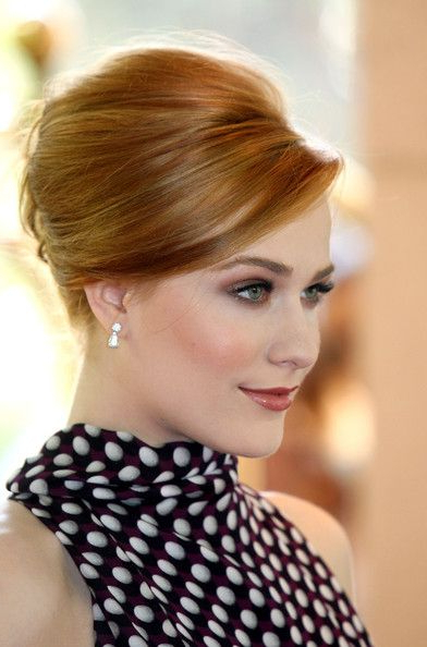 Evan Rachel Wood French Twist | Hairdo For Long Hair, Hairdo For High Bun With Twisted Hairstyles Wrap And Graduated Side Bang (View 17 of 25)
