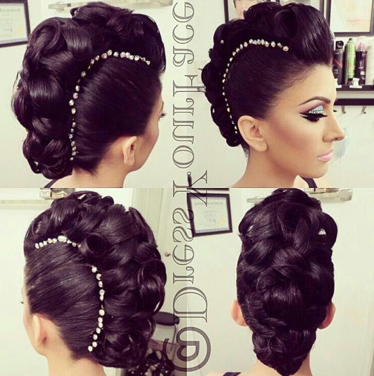 Fancy Mohawk #updo With Gems! Ballroom? | Hair Styles with Fancy Mohawk Haircuts