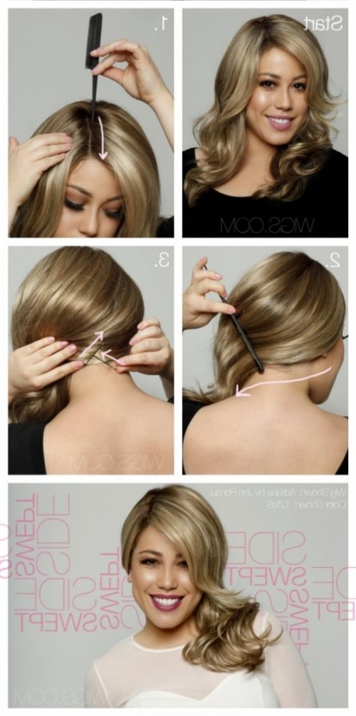 Fashion And Beauty - Side Swept Hair Tutorial | Side Swept intended for Straight Hairstyles In Side-Swept Downdo