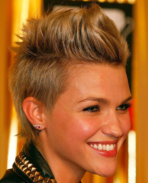 Faux Hawk Hairstyles For Women - Hairstyles Weekly pertaining to Pixie Faux Hawk Haircuts