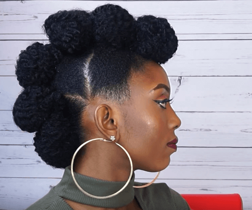 Faux Hawk Updo Tutorial On Short Natural Hair | Natural Hair with regard to Fierce Mohawk Hairstyles With Curly Hair