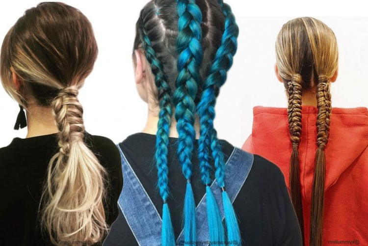 Festival Hairstyle Inspiration | Festival Looks | The Hair in Blue Braided Festival Hairstyles