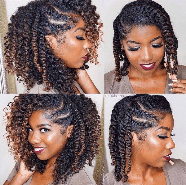 Fierce Flat Twist Out Curls Ig:@curldaze #naturalhairmag In for Fierce Mohawk Hairstyles With Curly Hair