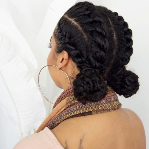 Flat Twist Hairstyles: 13 Fierce Looks From Instagram That Within Turned And Twisted Pigtails Hairstyles With Front Fringes (View 25 of 25)
