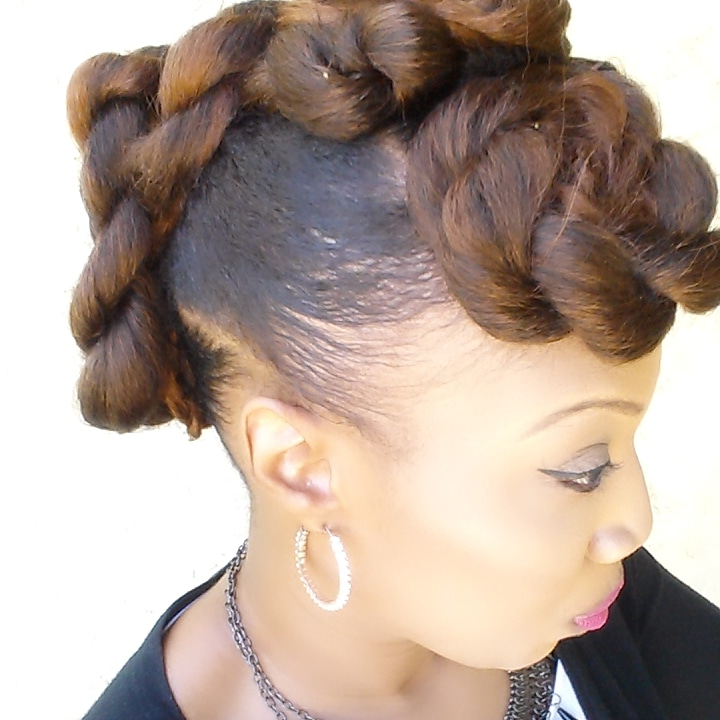 Freestyle Mohawk Updo – Black Hair Information Regarding Mohawk Updo Hairstyles For Women (View 21 of 25)