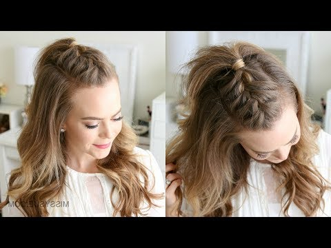 French Mohawk Braid | Missy Sue - Youtube with Center Braid Mohawk Hairstyles