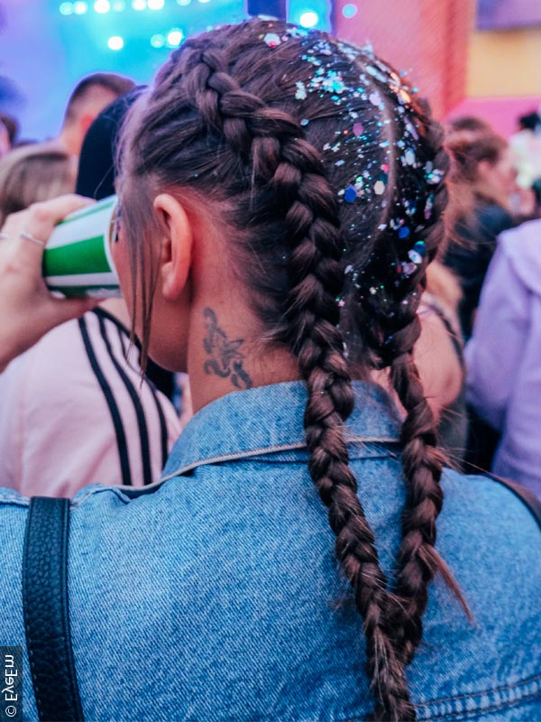 Get Festival Hair That Rocks With Regard To Blue Braided Festival Hairstyles (View 11 of 25)