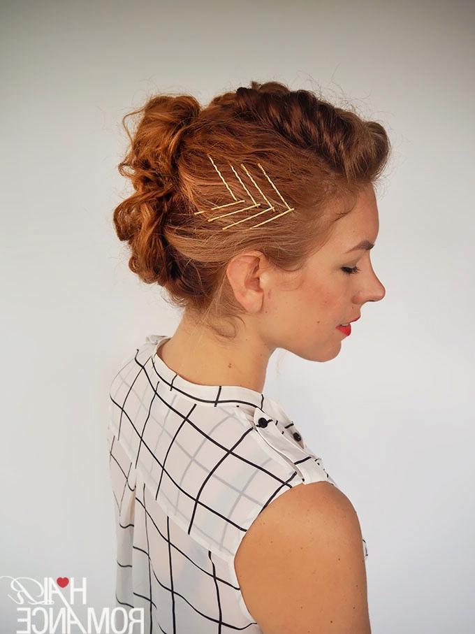 Gingertwin - Mohawk French Braid Updo Tutorial - Hair Romance in Braided Mohawk Bun Hairstyles