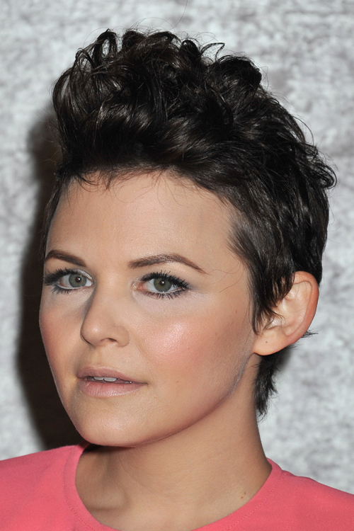 Ginnifer Goodwin Curly Black Faux Hawk Hairstyle | Steal Her intended for Short And Curly Faux Mohawk Hairstyles
