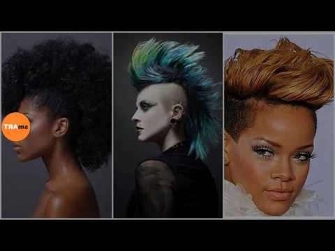Girl Mohawk Hairstyle - Exquisite Curly Mohawk Hairstyles inside Feminine Curly Mohawk Haircuts