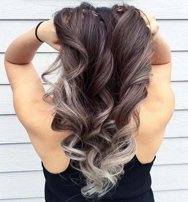 Glamorous Ash Blonde And Silver Ombre Hairstyles with Ash Bronde Ombre Hairstyles