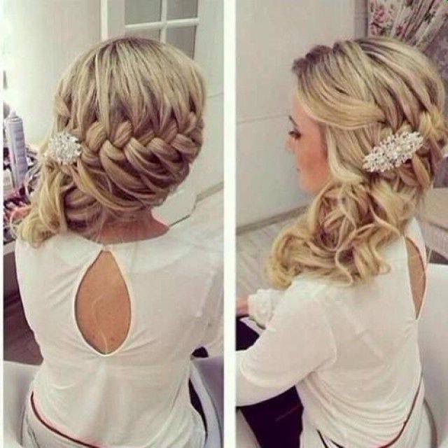 Gorgeous 1/2 Up + 1/2 Down Do!! Love! | Wedding Hairstyles pertaining to Easy Side Downdo Hairstyles With Caramel Highlights