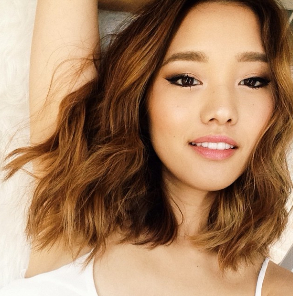 Great Color + Texture In 2019 | Hair Color Asian, Asian pertaining to Asian Medium Hairstyles With Textured Waves