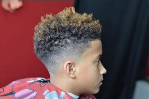Grown Out Curls With High Fade Growing Your Curly Black Boy In Long Luscious Mohawk Haircuts For Curly Hair (View 13 of 25)