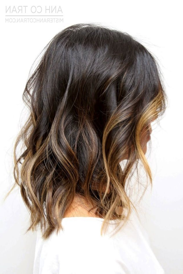 Hair Inspiration: Beach Waves With Subtle Ombré Highlights Regarding Black To Light Brown Ombre Waves Hairstyles (View 6 of 25)