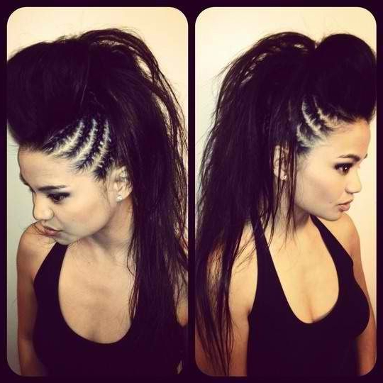 Hairstyles, Black Long Hair, Cornrows, Braids, Mohawk Pertaining To Teased Long Hair Mohawk Hairstyles (View 3 of 25)