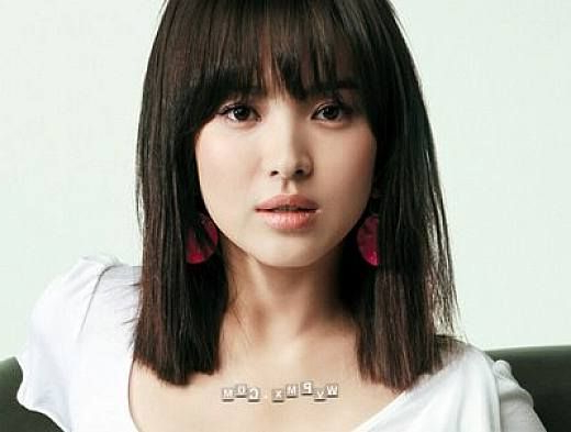 Hairstyles For Shoulder Length Hair With Bangs For Asian Pertaining To Blunt Bangs Asian Hairstyles (View 2 of 25)