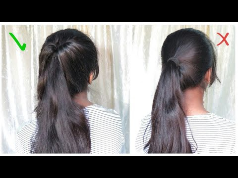 High Ponytail For Party/ Messy Ponytail/ No Teasing/ No Hairspray/ Indian Hairstyle For Messy High Ponytail Hairstyles With Teased Top (View 14 of 25)