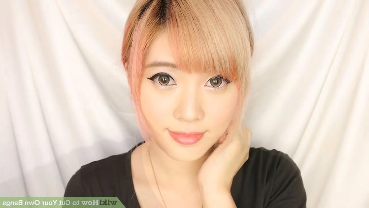 How To Cut Your Own Bangs (With Pictures) – Wikihow Inside Eye Covering Bangs Asian Hairstyles (View 25 of 25)