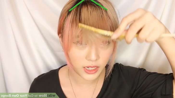 How To Cut Your Own Bangs (With Pictures) – Wikihow Throughout Eye Covering Bangs Asian Hairstyles (View 21 of 25)