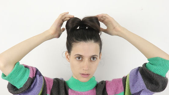 How To Make A Bow Out Of Your Hair: 14 Steps (With Pictures) With Regard To High Looped Ponytail Hairstyles With Hair Wrap (View 22 of 25)