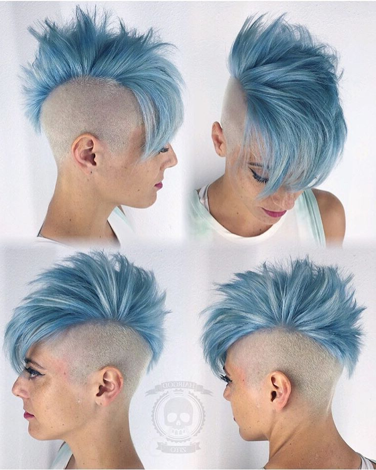 Ig: Hairgod Zito Ice Blue!!! #hairgod Zito #pulpriothair Inside Icy Purple Mohawk Hairstyles With Shaved Sides (View 7 of 25)
