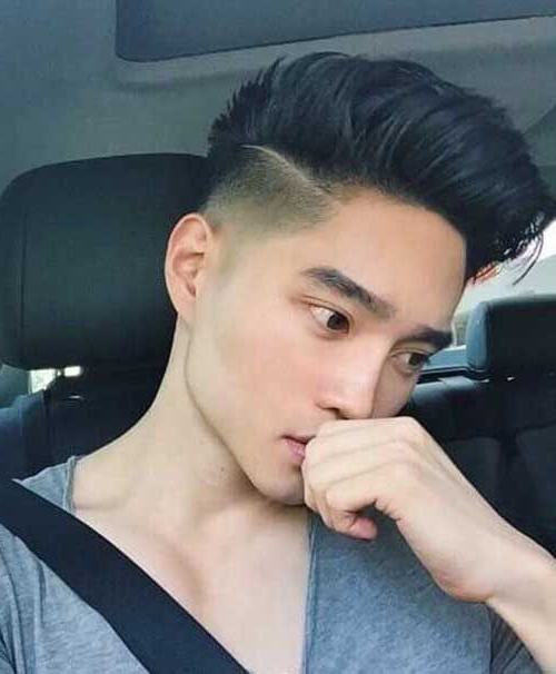 Japanese Mens Disconnected Undercut … | Asian Men Hairstyle For Cool Silver Asian Hairstyles (View 10 of 25)