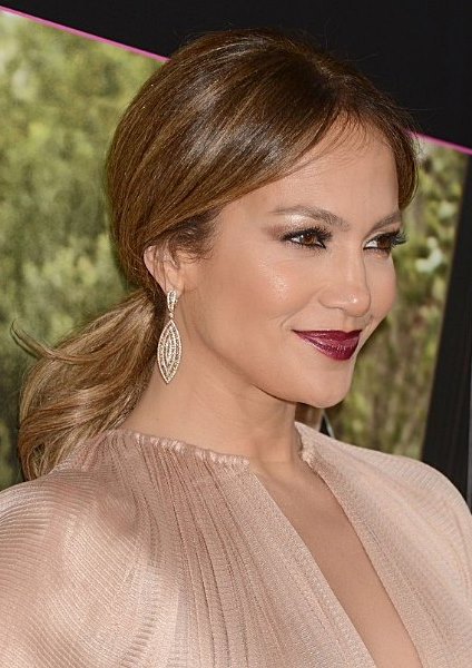 Jennifer Lopez Low And Loose Ponytail - Prom, Casual, Party inside Loose Low Ponytail Hairstyles With Casual Side Bang