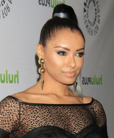 Kat Graham Rocks A Pulled Tight Super High Ponytail | Hair Intended For Tight High Ponytail Hairstyles With Fringes (View 9 of 25)