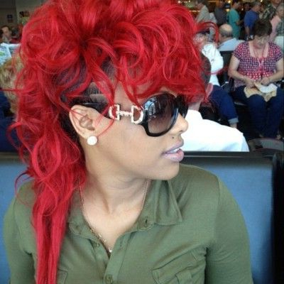 Keyshiakaoir In #red #mohawk | Fire Red Hair, Red Hair, Hair With Regard To Hot Red Mohawk Hairstyles (View 4 of 25)