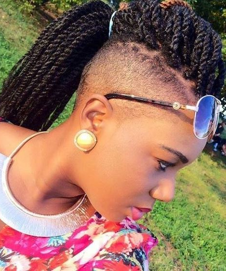 Kinky Twisted Braided Mohawk Updo Hairstyles – Askhairstyles Intended For Twisted And Braided Mohawk Hairstyles (View 17 of 25)