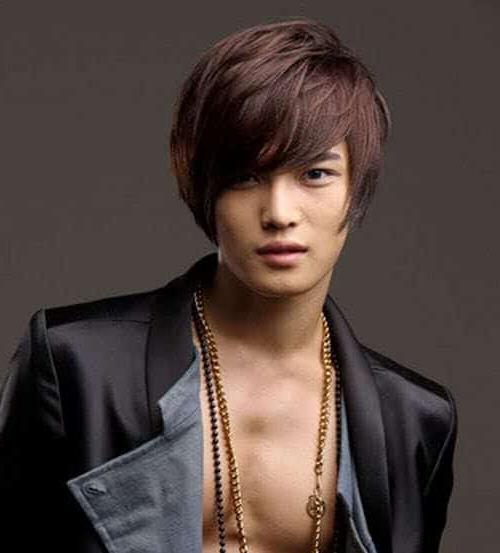 Korean Pop (K Pop) Singers Hairstyles – 22 Haircuts For In Eye Covering Bangs Asian Hairstyles (View 12 of 25)