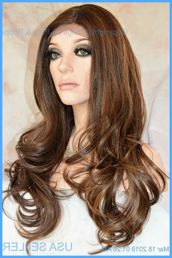 Lace Front Synthetic/human Hair Blend Cascading Waves Side For Cascading Silky Waves Hairstyles (View 2 of 25)