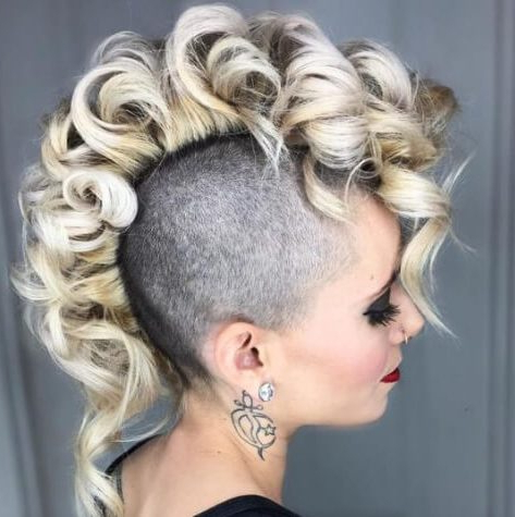 Learn How To Sport A Curly Mohawk: 50 Sweet Ideas   Hair With Long Curled Mohawk Haircuts (View 13 of 25)