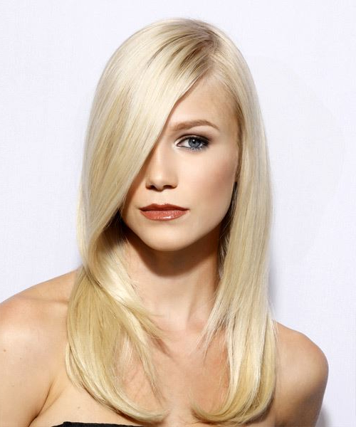Long Hairstyles And Haircuts Throughout Long Hairstyles With Straight Fringes And Wavy Ends (View 19 of 25)