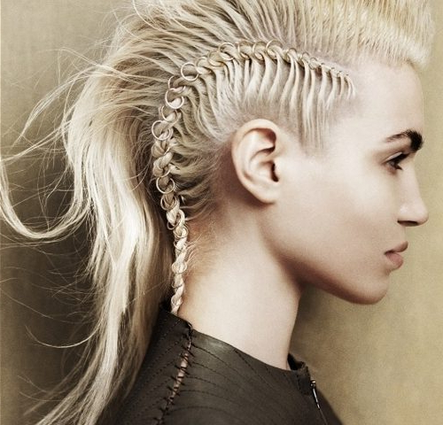 Long Mohawk For Women | Hairstylo In Medium Length Mohawk Hairstyles With Shaved Sides (View 10 of 25)